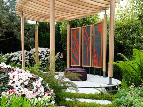 Anna Glasbrook 'Cheslea Flower Show Homebase Garden'