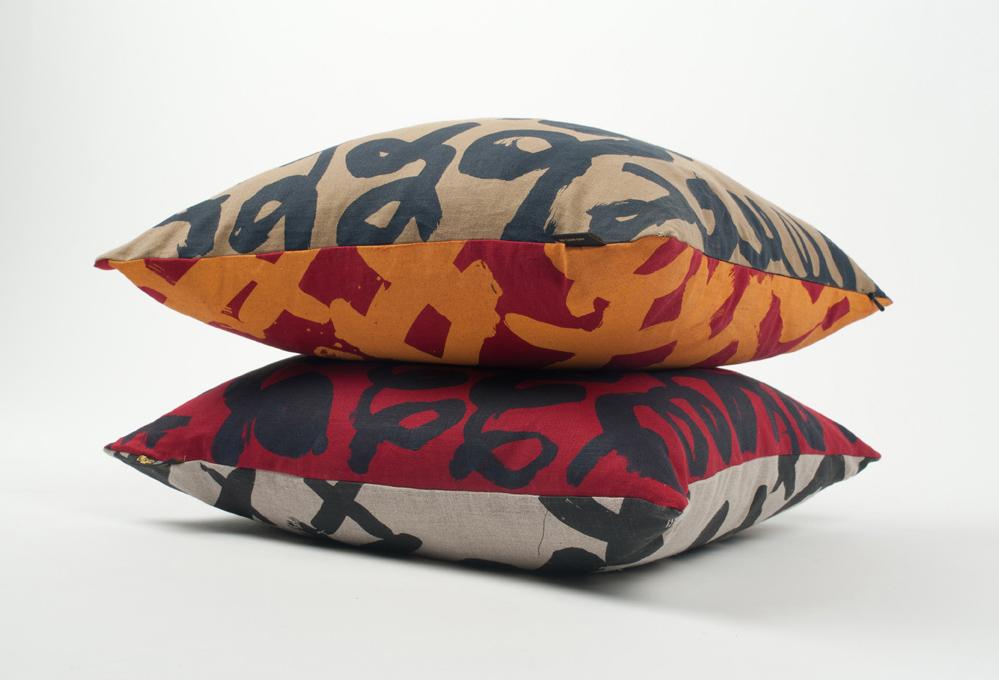 Lyn Snow 'Loop and Cross' cushions