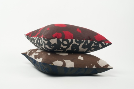 Lyn Snow 'Loop and Scrawl', and 'Scrawl' cushions