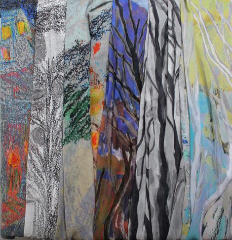 Penny Seume 'Bath Landscape' scarves