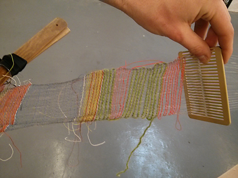 Dan weaving with the rigid heddle - detail