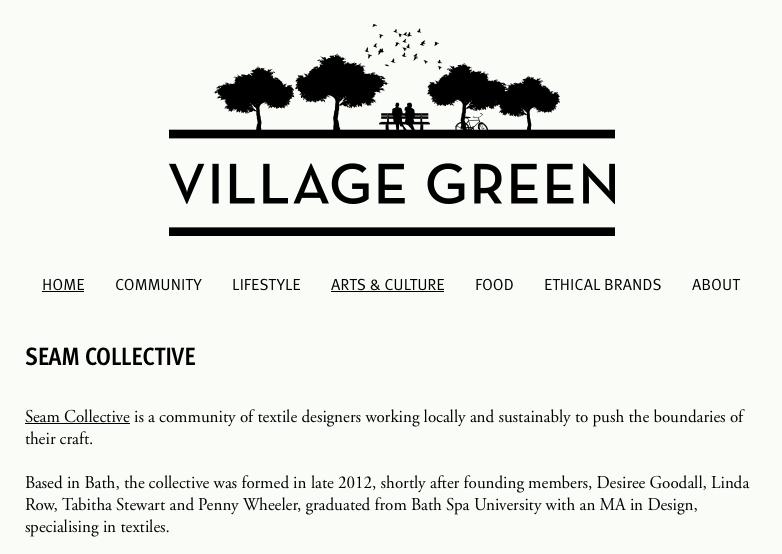 Screenshot of Village Green article