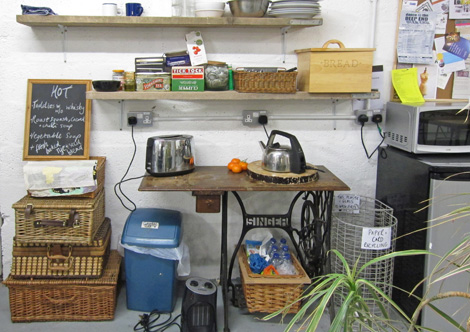 The most important area - the tea station!