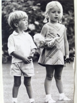 Anna Glasbrook, 1970, UK - With my brother, David. The dress is an original Clothkits that my Mum made for me and all my cousins in Denmark went on to wear after me.