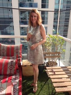 Heledd, UK, unknown - My 40th birthday shift dress, from French Connection, complete with birthday shoes by Jimmy Choo.