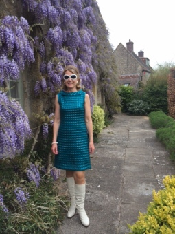 Submitted by Joy Merron, UK - All dressed up and ready to go to a 60s revisited fancy dress party in vintage 60s gear!