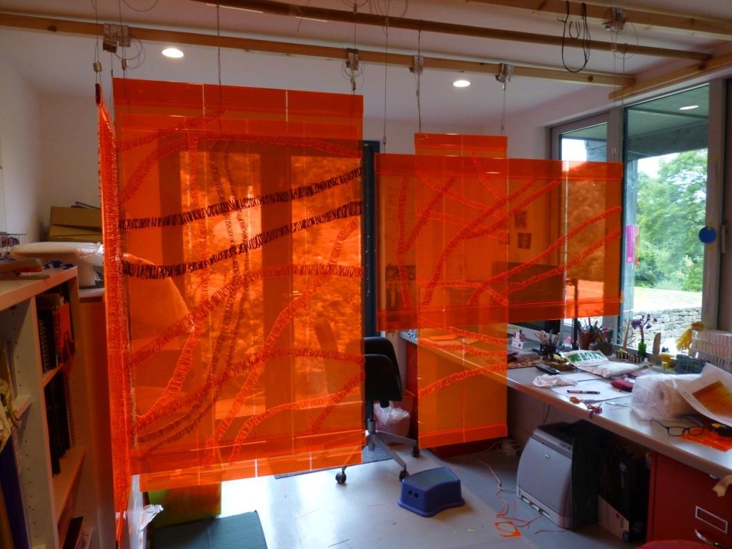 Glow panels under construction in my studio