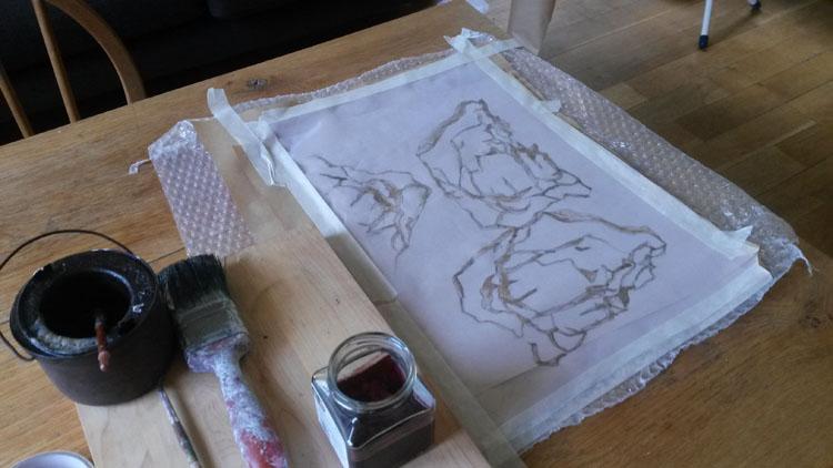Waxing silk organza