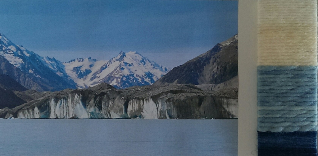 Tasman Glacier and Glacier Lake, Mt Cook and colour palette