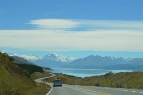 Looking towards Mt Cook, New Zealand