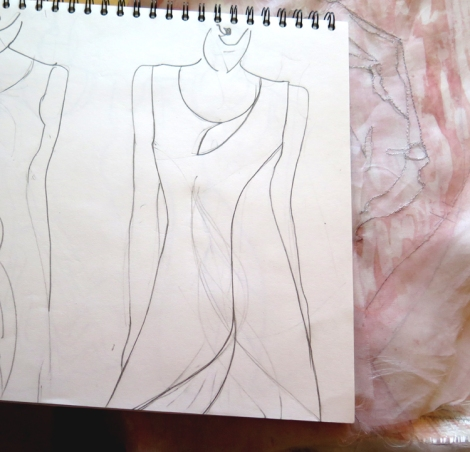 Finalising dress design