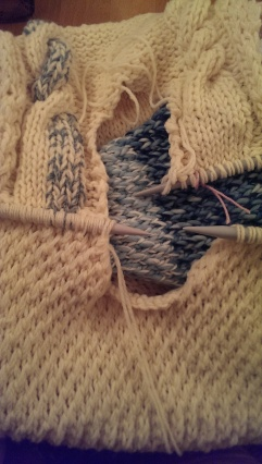 Double cast off to reduce seams