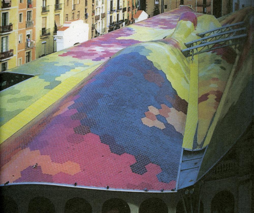 Roof Barcelona Market Place. Photograph Gill Hewitt