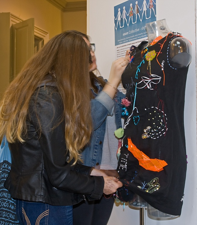 Graffiti dress being worked on at Select Showcase 2015