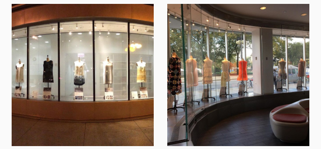 shift dresses on display in Chicago