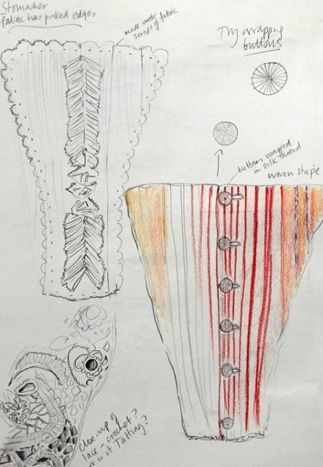 Sue Bradley, Costume drawings. Seam