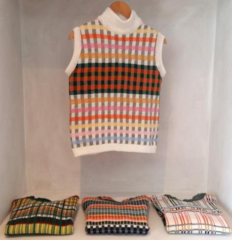 Sue BradleyMachine knit sweater collection. Seam