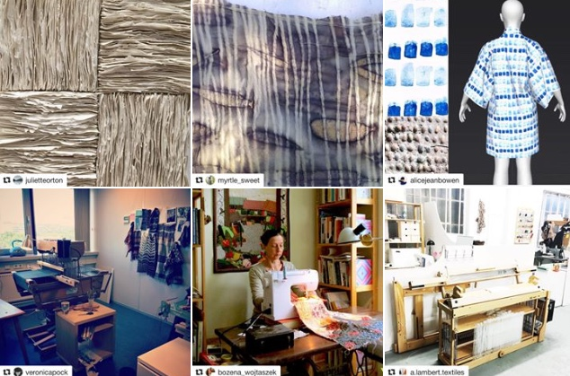A selection of images from during the #SeptTextileLove challenge