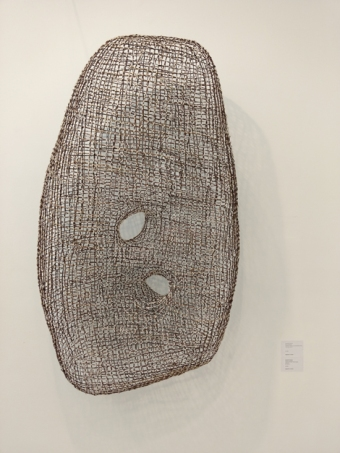 9. 'Bunki (Diverge)' Takadori Kazuhito, hawthorn twigs and waxed linen twine 140 x 80 x 30 cm