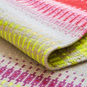 Angie Parker, 'Indira Red' rug in Krokbragd