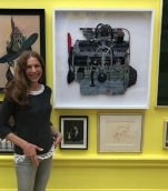 Julie Heaton with 'The Bristol 2 Litre Engine' at the Royal Academy