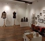 Extremely Textiles exhibition with work by Linda Row, Desiree Goodall, Joy Merron and shop area